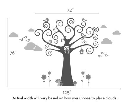 Wonderland Kids Wall Decal - by Simple Shapes