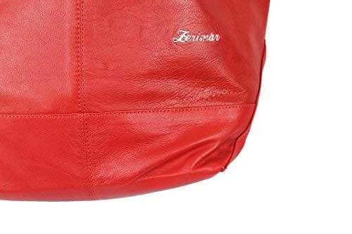 Bolso 40x20x25 Para Reversible Zerimar Color Mujer Medidas Hombro Mujer Piel Cm Rojo Bolsos De Mano Grandes blanco d7Iw7