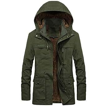 Amazon.com: Winter Jacket Men Windbreaker Hooded Plus