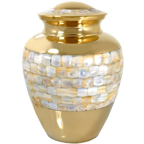Memorial Gallery 1492A Mother of Pearl Cremation Pet Urn