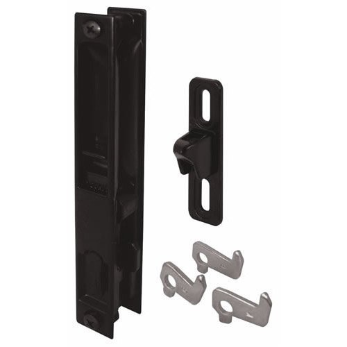 Prime-Line Products C 1043 Sliding Door Flush Handle Set, Black Diecast, 1-Pack