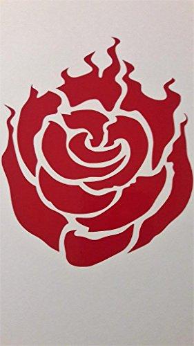(Chase Grace Studio Rwby Anime Ruby Rose Vinyl Decal Sticker|RED|Trucks Vans SUV Laptops Wall Art|5.25