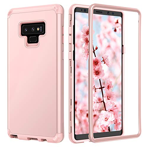 BENTOBEN Samsung Galaxy Note 9 Case, Galaxy Note 9 Case, Heavy Duty 3 in 1 Hybrid Soft TPU Rugged Bumper Anti Slip Full-Body Protective Phone Case Samsung Note 9, Rose Gold
