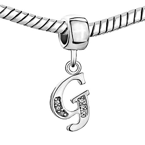 Charmsstory Alphabet Beads A Z Letter Initial Spacer Dangle Clear
