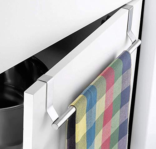 Unyks Star Stainless Steel Towel Bar Holder Cabinet Hanger Over Door Kitchen Hook Drawer Storage (Towel Holder for…