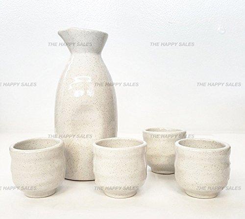 Happy Sales 5 piece Ceramic Sake Set - Off White by Happy Sales (Image #3)