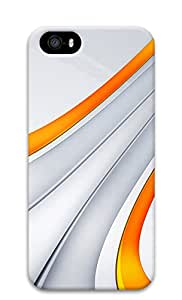 iPhone 5s Cases & Covers - 3D Orange And Silver Stripe PC Custom Soft Case Cover Protector for iPhone 5s