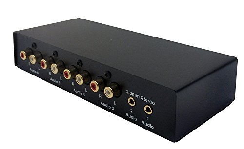 All-in-1 Stereo Audio Rouging Switch + Audio Splitter + Audio Mixer
