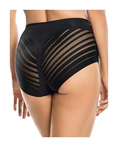 Leonisa Women's No Show Invisible Comfy Tummy Control Classic Panty,Black,Medium