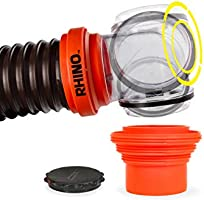 Amazon Com Camco Rhinoflex 15ft Rv Sewer Hose Kit Includes Swivel Fitting And Translucent Elbow With 4 In 1 Dump Station Fitting Storage Caps Included Frustration Free Packaging 39770 Automotive