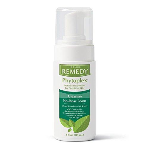 Medline MSC092104 Remedy Phytoplex No-Rinse Hydrating Cleansing Foam, 4 oz (Pack of - Rinse Foam Cleansing