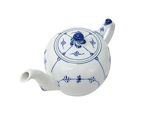 Royal Copenhagen Fluted Plain Tea Pot, Blue by Royal Copenhagen (Image #2)