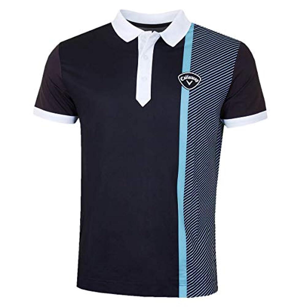 [해외] CALLAWAY 골프 2019 맨즈 blod 리니어 프린트 OPTI-DRI 스트레치 골프 폴로 셔츠 X-LARGE