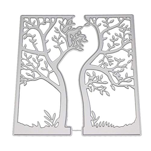 Yajom Tree Metal Cutting Dies Stencil for DIY Scrapbooking Paper Card Embossing Craft Decor