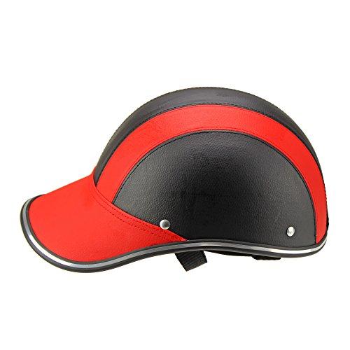 Ocamo - Casco de Ciclismo Unisex de Verano Ligero para Motocicleta o Ciclismo, Rojo