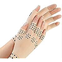Naturaness Guantes de terapia magnética para dedos con artritis Piel color piel