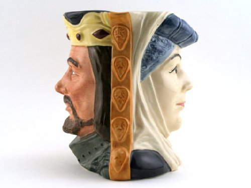 Doulton Large Character Jug (Royal Doulton King Arthur and Guinevere Large D6836 Character Jug)