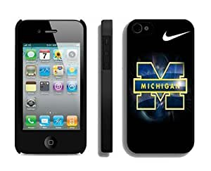 Amazing Top Rated Iphone 4 4s Case Phone Protective Black Cover Ncaa Michigan Wolverines for Guys Just Do It