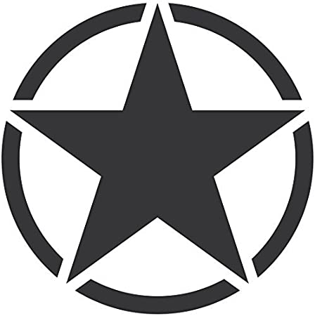 Greenit Us Stern 50cm Auto Jeep Heck Tür Aufkleber Tattoo Die Cut Car Decal Fahrzeugfolie Autoaufkleber Matt Schwarz Auto