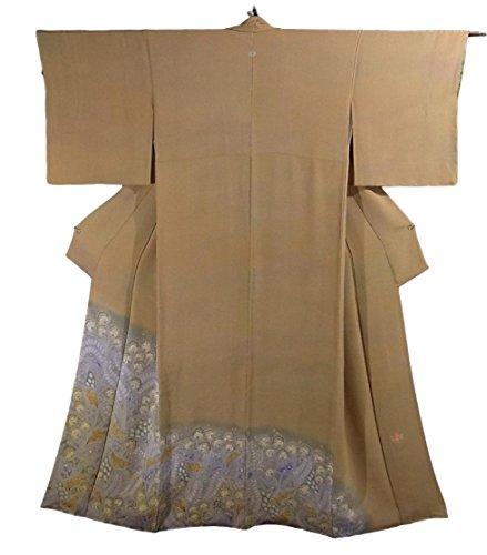 あいまいな灰思い出初代 久保田一竹 リサイクル 着物 色留袖 縮緬 一竹辻が花 一つ紋 正絹 袷 裄67cm 身丈169cm