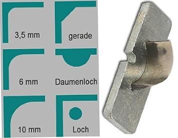 6 mm Eckenrunder M70 inklusive Radius Messer KwTrio 21144