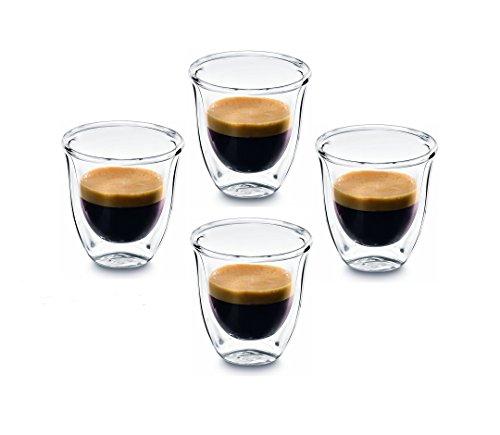 PremiaCasa Double Walled Thermo Espresso Glasses, Set of 4