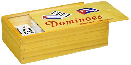 (Bene Casa Cuban Flag Double Nines Dominoes Set Wood Box)