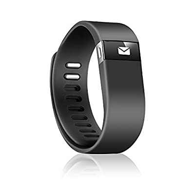 Fitness Activity and Sleep Tracker Wireless Wristband, Black, Large