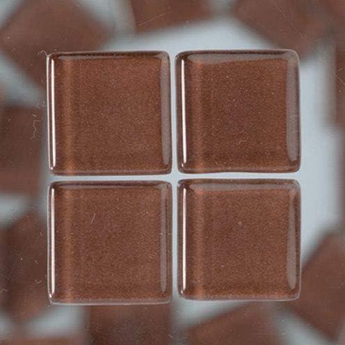 MosaixSoft Glass Tiles 20 x 20 x 4 mm 200 g ~ 41 pcs Brown
