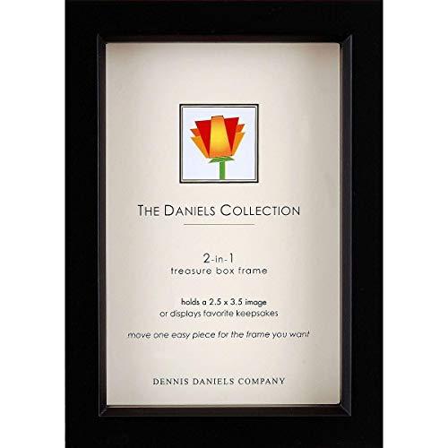 Dennis Daniels Wood Treasure Box Picture Frame, 2.5 x 3.5 Inches, Ebony]()