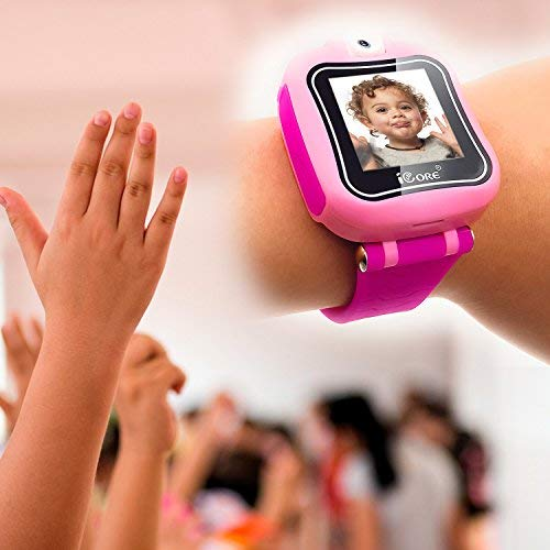 iCore Kids Watch, Durable Smart Watch for Kids, Game Pink Camera Smartwatch, Digital Touch Screen Kid Watches with Alarm Clock Stopwatch, Toys Video Games Girls Boys by iCore (Image #8)
