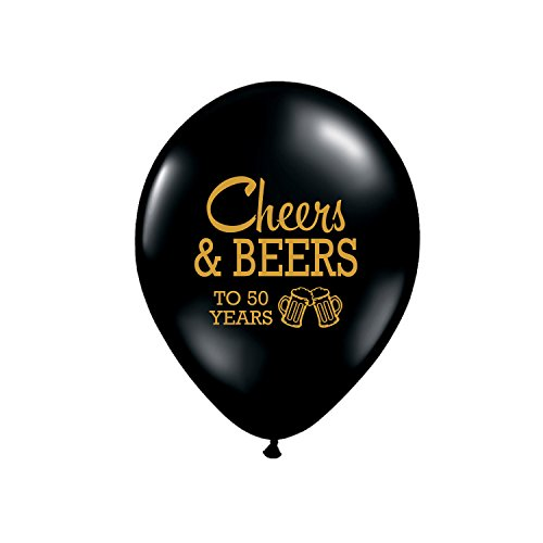 Cheers and Beers to 50 Years 50th Birthday Party Balloon (Set of (50th Birthday Beer)