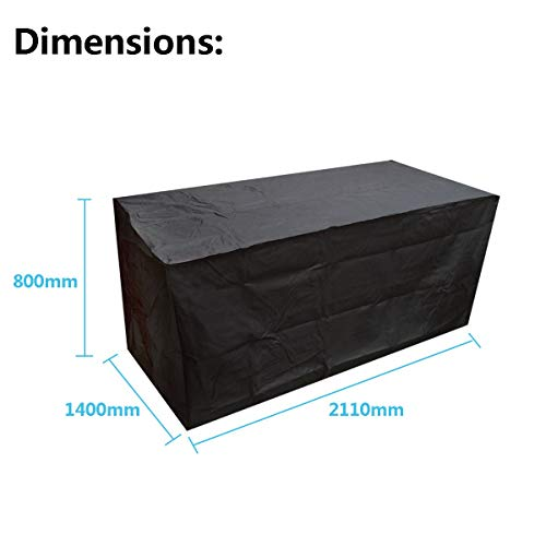 RubyShopUU Round Square Waterproof Garden Patio Furniture Cover Set Table Cube Outdoor Tablecloth Dustproof Anti Sun (Chair Covers Kohls)