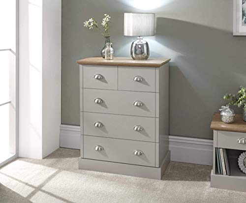 GFW – The Furniture Warehouse Kendal 2+3 Drawer Chest – Grey & Oak