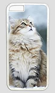 Cat Standing in The Snow Customized Hard Shell Transparent iphone 6 plus Case By Custom Service Your Perfect Choice WANGJING JINDA