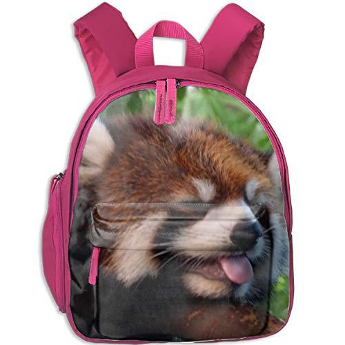 Casual Backpack Baby Red Panda Wallpaper Print School Bag For Students Kids ()