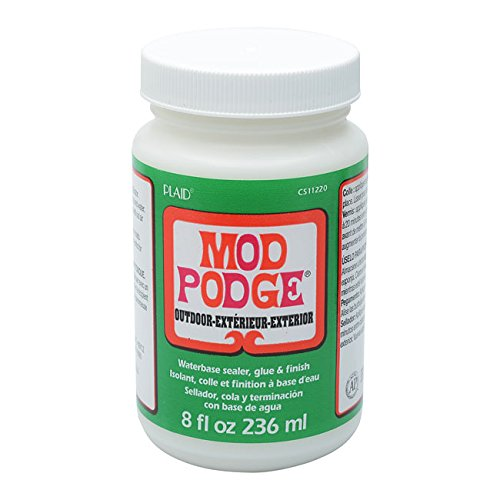 Mod Podge Waterbase Sealer, Glue and Finish for Outdoor (8-Ounce), CS11220 Clear - Pendant Classic Exterior