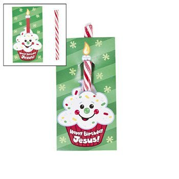 Oriental Trading Happy Birthday Jesus Candy Cane On Card ...