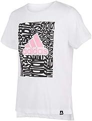 adidas Girls Short Sleeve Side Slit Tee T-Shirt