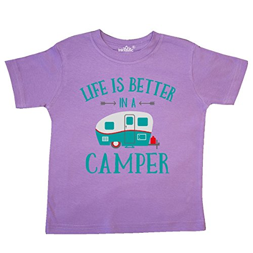 inktastic - Life's Better in A Camper Toddler T-Shirt 5/6 Lavender 27b7e