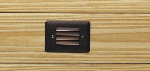 Kichler Deck 12v (Kichler 15782AZT, Landscape LED Low Voltage Aluminum Step Landscape Deck Lighting, Bronze)