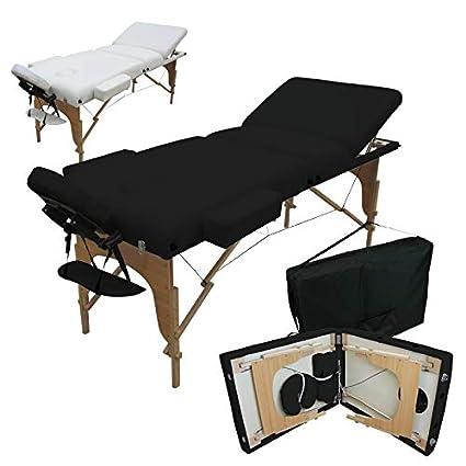 Vivezen Table De Massage 13 Cm Pliante 3 Zones En Bois Avec Panneau Reiki Accessoires Et Housse De Transport 2 Coloris Norme Ce