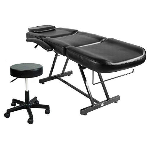 """Artist Hand 73"""" Adjustable Massage Table Bed W/Hydraulic Stool, Beauty Massage Table Chair for Tattoo Parlor Spa Salon Facial"""