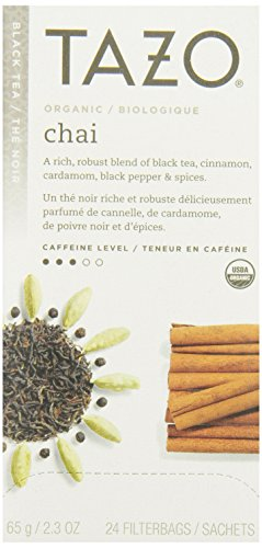 (Tazo Organic Chai - 149904, Black Tea-24 Tea Bags-2.3oz/65g)