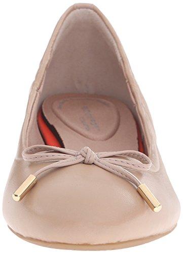 Rockport TOTAL MOTION 20MM Lazo de la mujer Ballet Flat Taupe