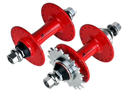 Joytech 36H Pignon Fixe et roue libre Flip Flop Hubset, fixie, Track Bike hub Red