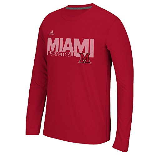 NCAA Miami (Ohio) Redhawks Men's Sideline Grind Climalite Ultimate Long Sleeve Tee, Large, (Ohio Basketball T-shirt)