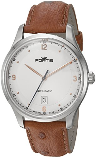 Fortis Men's 903.21.12 LO.38 Tycoon Date Analog Display Automatic Self Wind Brown Watch