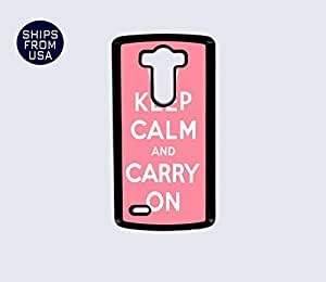 LG G3 Case - Keep Calm Carry On Pink iPhone Cover