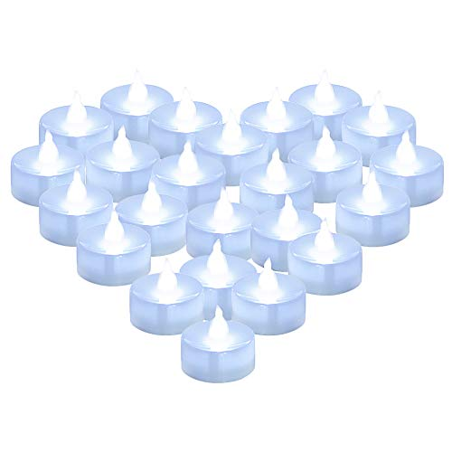 - Coolending 24 Pcs LED Tealights Battery Operated Flameless Candles Flickering Cold White Decoration for Party Wedding Birthday Easter